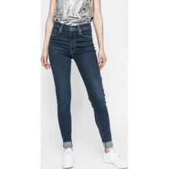 Levi's - Jeansy Mile High Super Skinny. Brązowe jeansy damskie rurki marki Levi's®, z aplikacjami, z bawełny. W wyprzedaży za 239,90 zł.