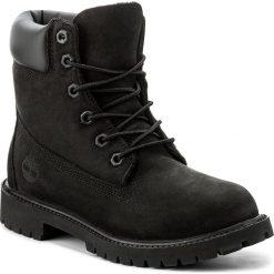 Trapery TIMBERLAND - 6In Prem 12907/TB0129070011 Black Nubuck. Czarne buty zimowe damskie marki Timberland, z gumy. W wyprzedaży za 419,00 zł.