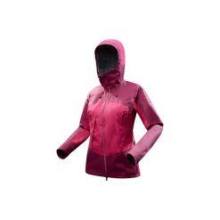 Kurtka trekkingowa Trek 500 damska. Czerwone kurtki damskie marki TRIBORD, z materiału. Za 499,99 zł.