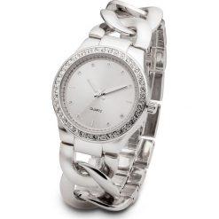 Zegarek na łańcuszkowej bransoletce bonprix srebrny kolor. Szare zegarki damskie marki bonprix, srebrne. Za 89,99 zł.