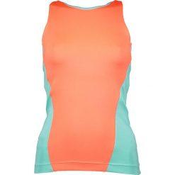 Topy sportowe damskie: Funkcyjny top w kolorze jaskrawopomarańczowo-turkusowym