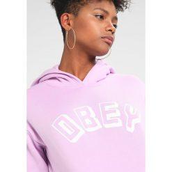Bluzy damskie: Obey Clothing NEW WORLD Bluza z kapturem orchid