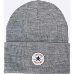 Converse - Czapka. Szare czapki zimowe męskie Converse, z dzianiny. W wyprzedaży za 59,90 zł.