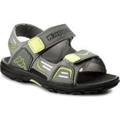 Sandały KAPPA - Pure K 260594K Grey/Lime 1633. Szare sandały męskie skórzane marki Kappa. Za 79,00 zł.