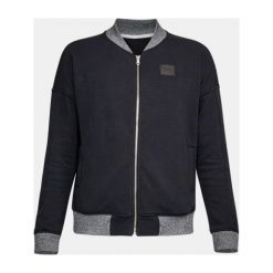 Bluzy sportowe damskie: Under Armour Bluza damska Threadborne Fleece Bomber czarna r. M (1298590-001)