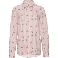 Bluzka bonprix stary jasnoróżowy - biały w paski. Czerwone bluzki z odkrytymi ramionami marki bonprix, z nadrukiem, klasyczne, z klasycznym kołnierzykiem. Za 49,99 zł.