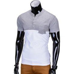 T-shirty męskie: T-SHIRT MĘSKI BEZ NADRUKU S662 – SZARY