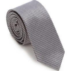 Krawat 87-7K-002-X1. Szare krawaty męskie Wittchen, w paski, z bawełny. Za 149,00 zł.