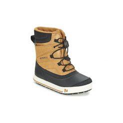 Śniegowce Dziecko Merrell  SNOW BANK 2.0 WTPF. Brązowe buty zimowe damskie Merrell. Za 349,00 zł.