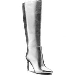 Kozaki GUESS - Lilla2 FLLI24 LEL11 SILVE. Czarne buty zimowe damskie marki Guess, z materiału. W wyprzedaży za 519,00 zł.