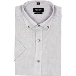 Koszula bexley 2512 krótki rękaw slim fit szary. Szare koszule męskie slim Recman, m, z krótkim rękawem. Za 89,99 zł.