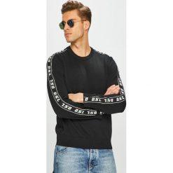Diesel - Sweter. Niebieskie swetry klasyczne męskie marki Diesel. Za 729,90 zł.