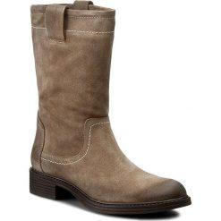 Kozaki NESSI - 926/N Beż W1. Czarne buty zimowe damskie marki Kazar, ze skóry, przed kolano, na wysokim obcasie, na obcasie. W wyprzedaży za 259,00 zł.