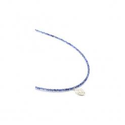 Naszyjnik Sodalit Mandala srebro. Niebieskie naszyjniki damskie Brazi druse jewelry, na co dzień, srebrne. Za 270,00 zł.