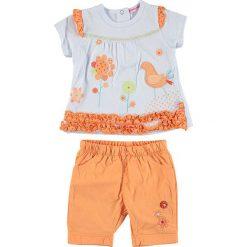 Spodnie niemowlęce: 2-częściowy zestaw w kolorze pomarańczowo-białym