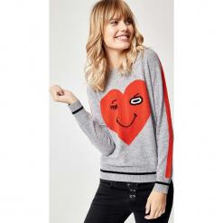 Kaszmirowy sweter w kolorze szarym. Szare swetry klasyczne damskie marki Manode, s, z kaszmiru, z dekoltem w łódkę. W wyprzedaży za 391,95 zł.