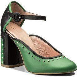 Półbuty L37 - Brit Style S30SK8 Zielony. Zielone półbuty damskie skórzane marki L37, eleganckie, na obcasie. W wyprzedaży za 389,00 zł.