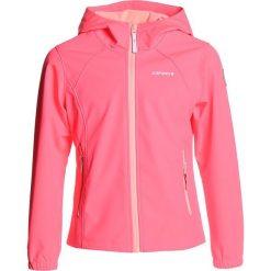 Icepeak TUUA  Kurtka Softshell hot pink. Czerwone kurtki dziewczęce przeciwdeszczowe Icepeak, z elastanu. W wyprzedaży za 152,10 zł.