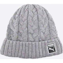 Puma - Czapka. Szare czapki zimowe męskie Puma, na zimę, z dzianiny. W wyprzedaży za 59,90 zł.