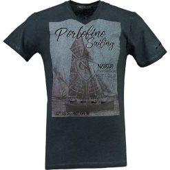 """T-shirty męskie z nadrukiem: Koszulka """"JeanPaul"""" w kolorze granatowym"""