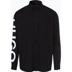 HUGO - Koszula męska – Emilton, czarny. Niebieskie koszule męskie na spinki marki HUGO, m, z bawełny. Za 499,95 zł.