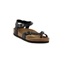 Sandały Birkenstock  TAORMINA BR BLACK. Szare sandały damskie marki Birkenstock, z materiału. Za 370,77 zł.