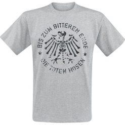 Die Toten Hosen Retro Adler T-Shirt odcienie szarego. Szare t-shirty męskie z nadrukiem Die Toten Hosen, m, z okrągłym kołnierzem. Za 79,90 zł.