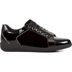 Geox - Buty. Czarne buty sportowe damskie Geox, z materiału. W wyprzedaży za 299,90 zł.