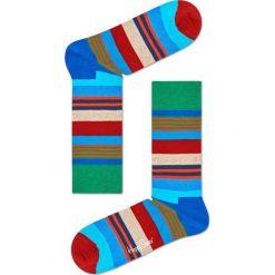 Happy Socks - Skarpety Multi Stripe. Szare skarpetki męskie Happy Socks, z bawełny. W wyprzedaży za 29,90 zł.