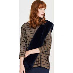 Simple - Bluzka. Brązowe bluzki nietoperze marki Simple, z elastanu, casualowe, z dekoltem w łódkę. W wyprzedaży za 159,90 zł.