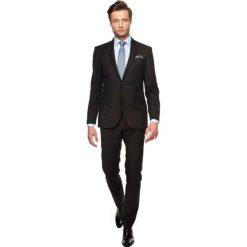 Garnitur halton 309 czarny slim fit. Czarne garnitury Recman, z aplikacjami, z wełny. Za 299,99 zł.