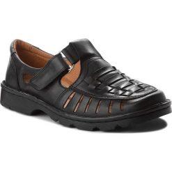 Sandały ŁUKBUT - 936 Czarny. Czarne sandały męskie skórzane Łukbut. W wyprzedaży za 159,00 zł.