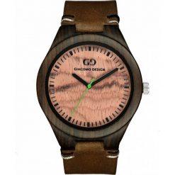 Zegarek Giacomo Design Drewniany męski GD08011. Brązowe zegarki męskie Giacomo Design. Za 359,00 zł.