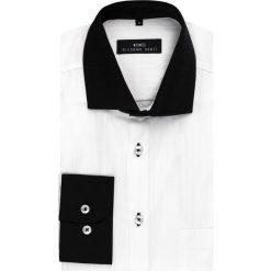 Koszula MASSIMO 14-04-04. Czarne koszule męskie na spinki marki Premium by Jack&Jones, l, z bawełny, z włoskim kołnierzykiem, z długim rękawem. Za 129,00 zł.