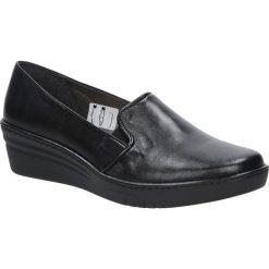 Czarne półbuty skórzane na koturnie Casu 298. Czarne buty ślubne damskie marki Casu, na koturnie. Za 179,99 zł.
