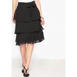 Minispódniczki: Spódnica z falbankami, z gniecionej krepy