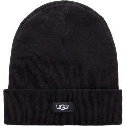 Czapka UGG - M Oversz Cuff Beanie 17513 Black. Czarne czapki zimowe damskie Ugg, z materiału. Za 209,00 zł.