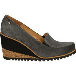 Czółenka - 1101 CAM GRIG. Brązowe buty ślubne damskie Venezia, ze skóry, na koturnie. Za 199,00 zł.