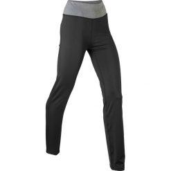 Spodnie sportowe ze stretchem, długie, Level 1 bonprix czarny. Czarne spodnie dresowe damskie bonprix, w paski. Za 79,99 zł.