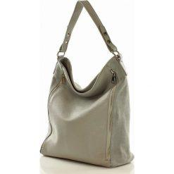 Torebki klasyczne damskie: ESTELLA Skórzana torebka włoska na ramię – szara