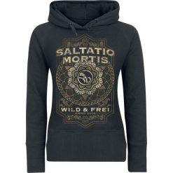 Bluzy rozpinane damskie: Saltatio Mortis Flourish Mandala Bluza z kapturem damska czarny