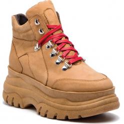 Sneakersy EVA MINGE - Asegur 4A 18PM1372669EF 604. Brązowe sneakersy damskie Eva Minge, z nubiku. W wyprzedaży za 309,00 zł.