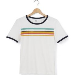 Bluzki dziewczęce bawełniane: Koszulka z okrągłym dekoltem w paski