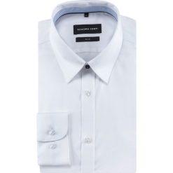 Koszula SIMONE slim KDBS000475. Białe koszule męskie na spinki marki Giacomo Conti, m, z bawełny, z klasycznym kołnierzykiem. Za 299,00 zł.