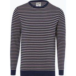 DENIM by Nils Sundström - Sweter męski, niebieski. Niebieskie swetry klasyczne męskie DENIM by Nils Sundström, m, w paski, z bawełny. Za 129,95 zł.