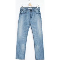 Jeansy męskie regular: Niebieskie Jeansy Boyo