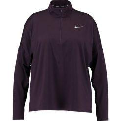 Topy sportowe damskie: Nike Performance RUNNING DRY PLUS SIZE Koszulka sportowa bordeaux heather/reflective silver
