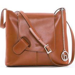 Torebki klasyczne damskie: Skórzana torebka w kolorze brązowym – 24 x 20 x 6,5 cm