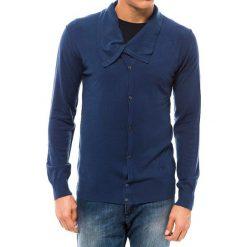 Swetry rozpinane męskie: Kardigan w kolorze granatowym