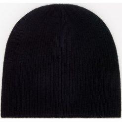 Kaszmirowa czapka - Czarny. Czarne czapki damskie Reserved, z kaszmiru. Za 99,99 zł.